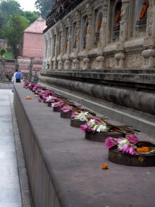 Offerings at Mahabodhi Temple